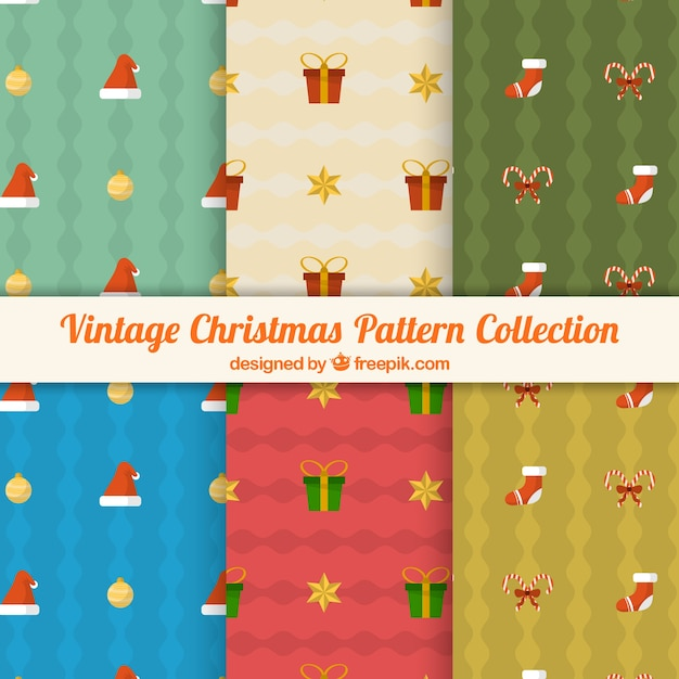 Collection of six vintage hand drawn patterns
