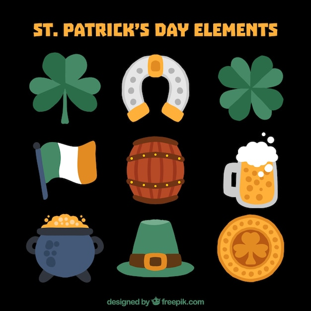 st s day items collection of st s day items vector free