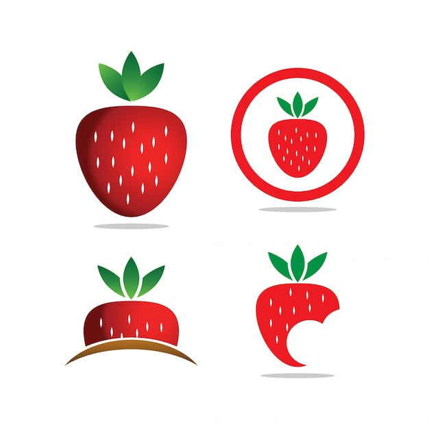 Collection of strawberry template Vector | Premium Download