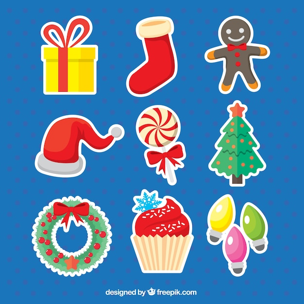 Collection of sweets and christmas\ ornaments