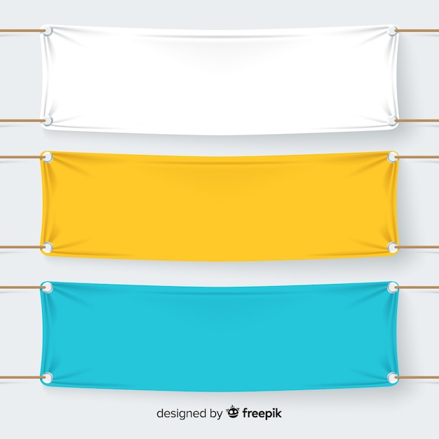 Collection of textile banners Free Vector