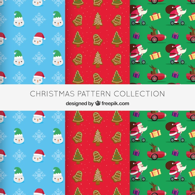 Collection of three christmas patterns