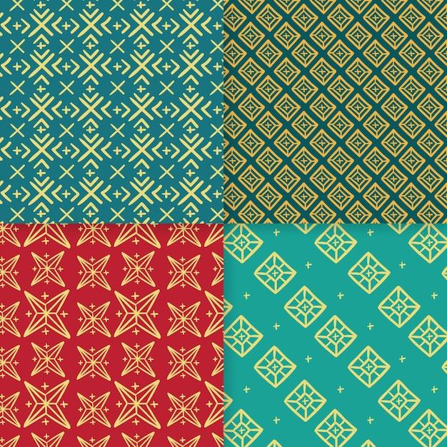伝統的なソンケットパターンのコレクション 無料ベクター