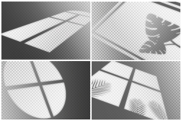 透明な影のオーバーレイ効果のコレクション 無料ベクター