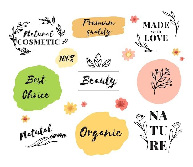Коллекция различных косметических логотипов Premium векторы