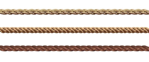 Коллекция различных веревочных ниток Premium векторы