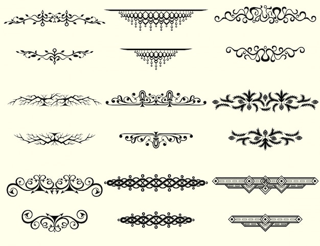 collection of vintage borders vector free download