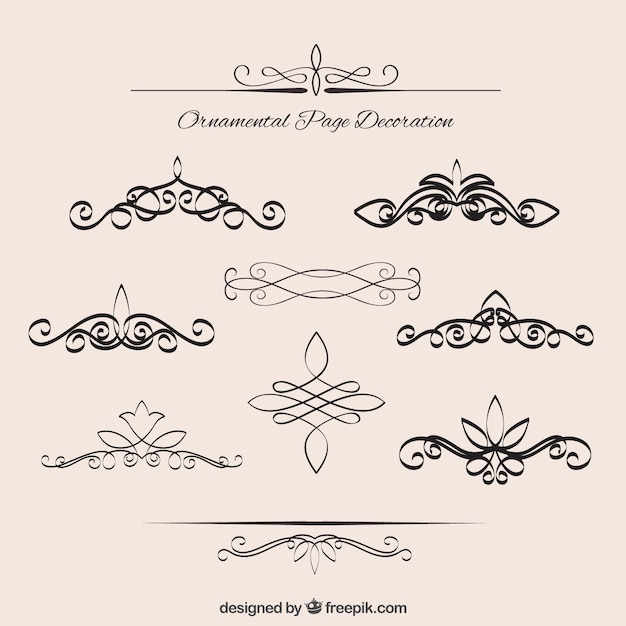 collection of vintage elegant borders vector premium