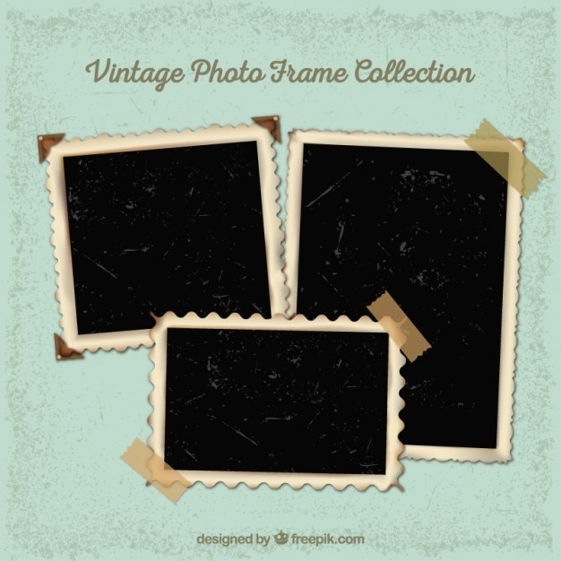 Collection of vintage photography frames Vector | Free Download