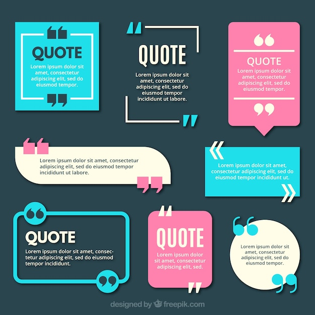 Quotation Mark Vectors, Photos And PSD Files