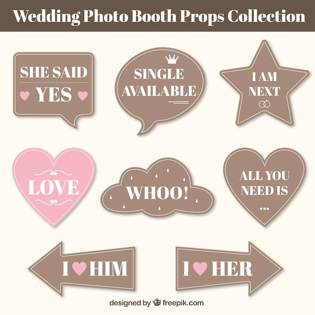 Collection Of Vintage Wedding Sch Bubbles Free Vector