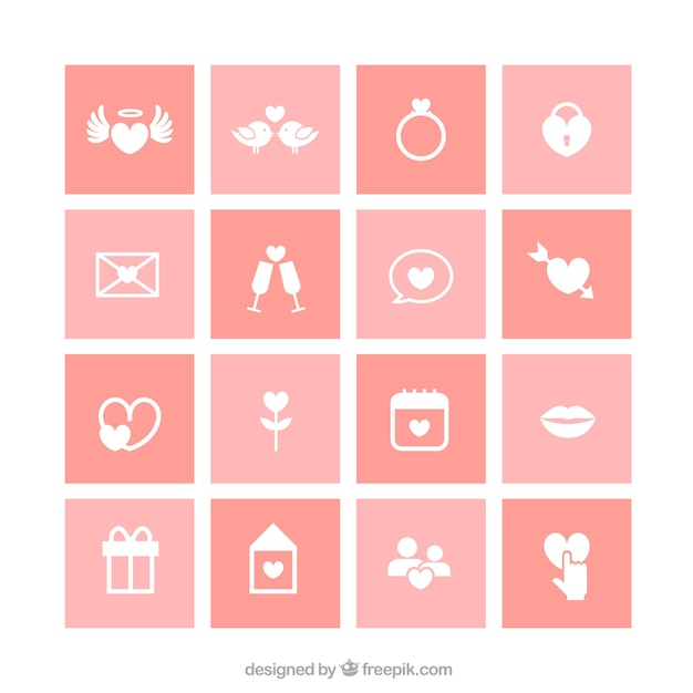 Collection Of Wedding Icons Vector Free Download