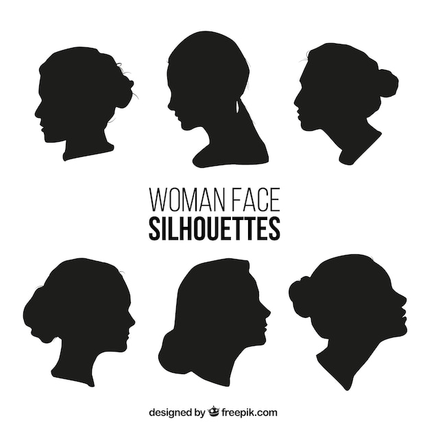 collection of woman face silhouettes vector premium download rh freepik com girl face silhouette vector man face silhouette vector