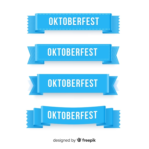 Collezione di ghirlande più oktoberfest Vettore gratuito