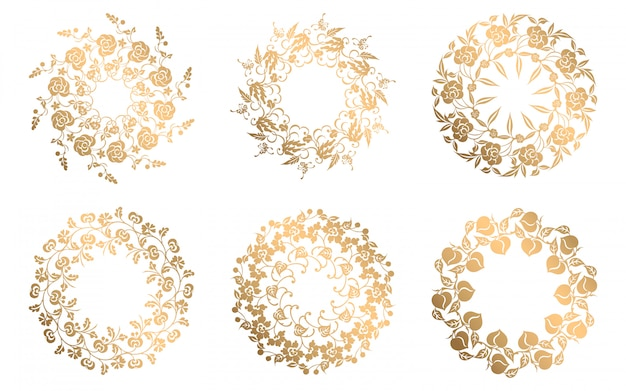 Collection of ornamental decorative elements Premium Vector
