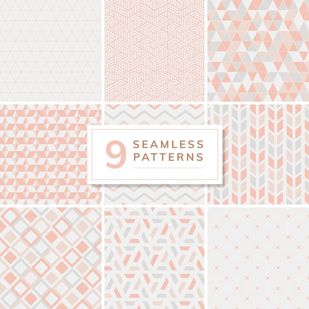 Collection of patterns vector illustration Free Vector