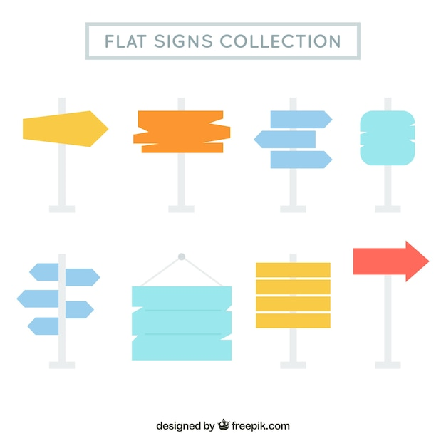 Collection of posters in flat design Free Vector