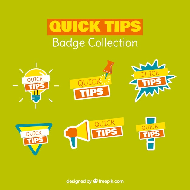 Collection of quick tips Vector   Free Download