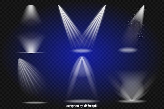 Collection of realistic scene illumination Free Vector