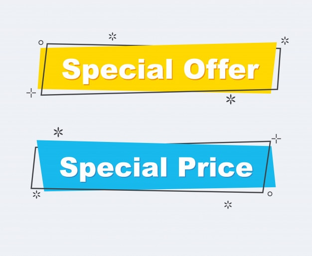 Collection of sale discount styled banners. Premium Vector