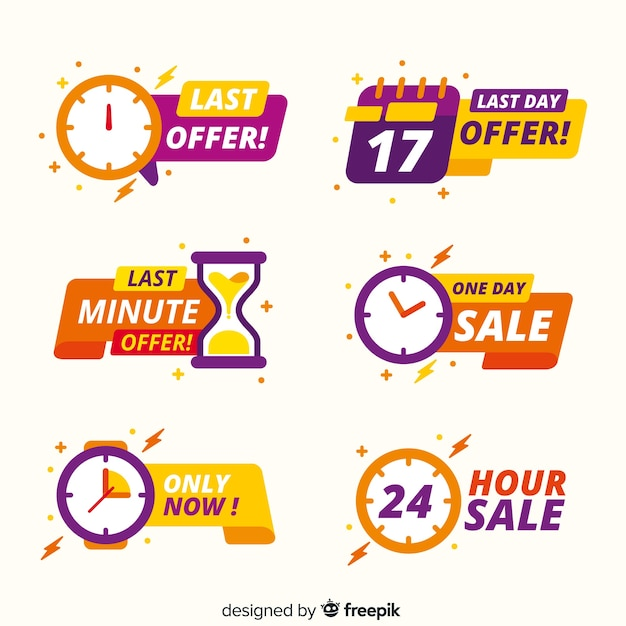 Collection of sales countdown banner Free Vector