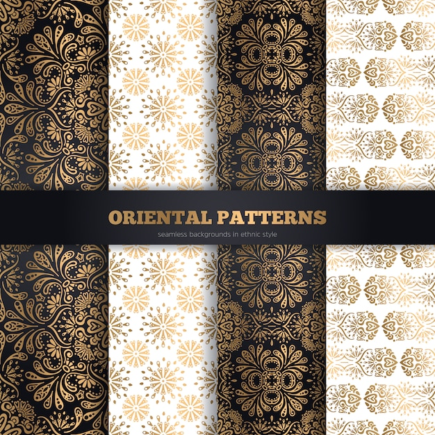 Collection seamless patterns Free Vector