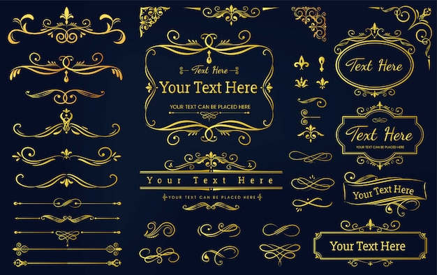 Collection set of label ornament vector illustration Free Vector