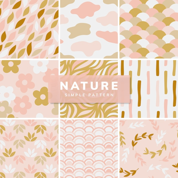 Collection of simple pattern illustration Free Vector