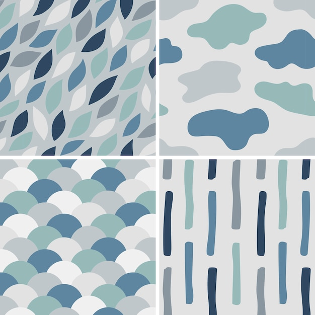 Collection of simple pattern vectors illustration Free Vector