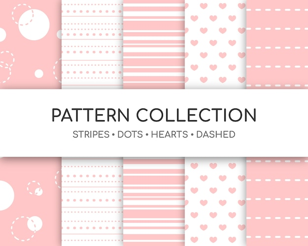 Collection of stripes Premium Vector