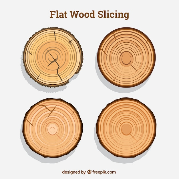 Collection of tree rings Free Vector
