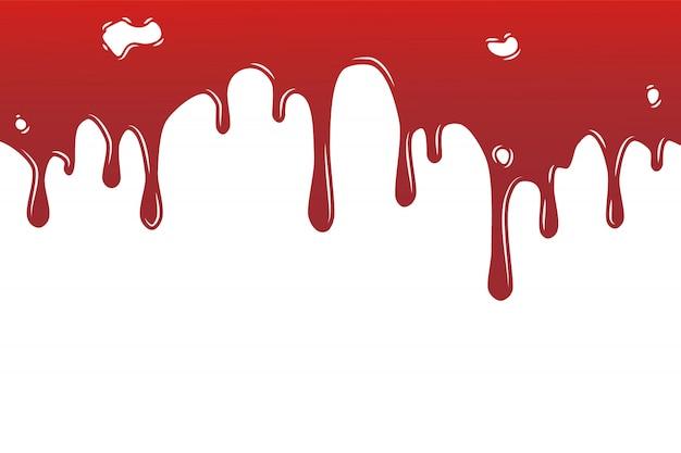 다양 한 혈액이나 페인트 뿌려 놓은 것 요, 잉크 튄 배경, 화이트에 격리. 프리미엄 벡터
