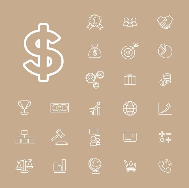 Collection vector financial business banking ui concept Free Vector