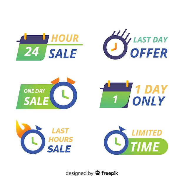 Collection with sales countdown banners Free Vector