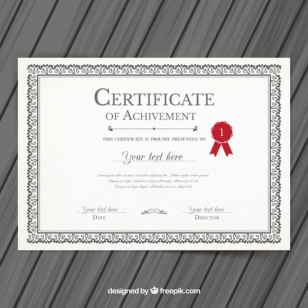 college certificate template vector premium download