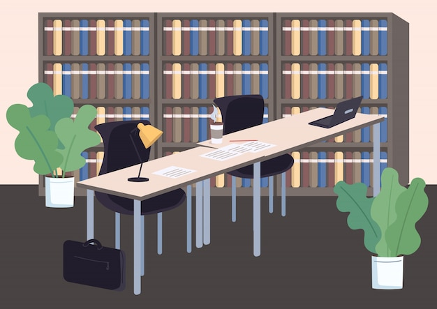 College library Premium Vector