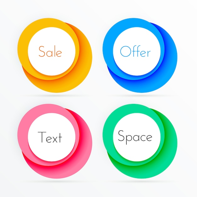Coloful circle frames with copyspace Free Vector