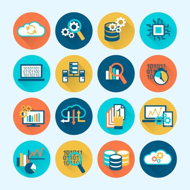 Coloful бизнес-иконки Бесплатные векторы