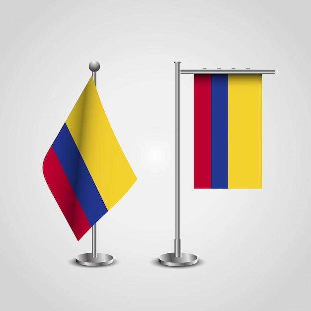 Colombia flag design vector Premium Vector