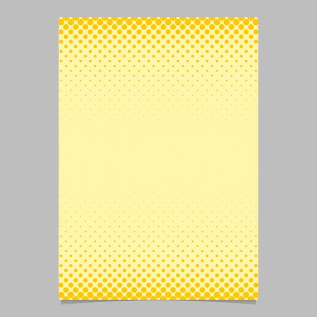 Color abstract halftone circle pattern card template - vector flyer background design with colored dots Free Vector