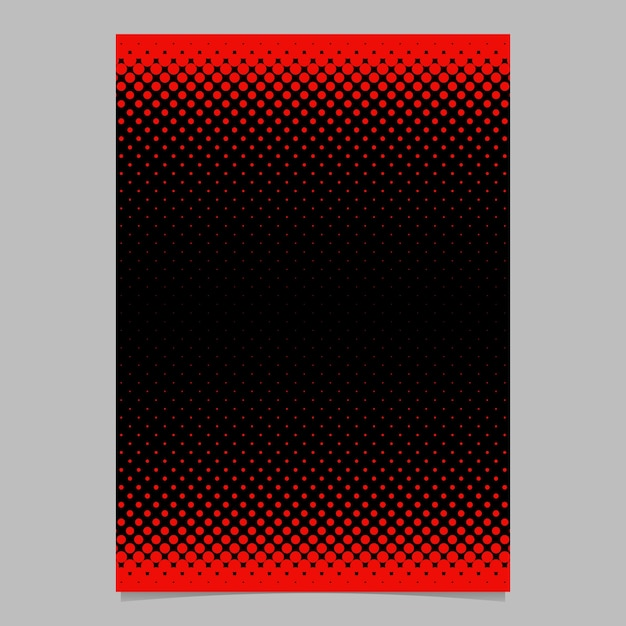 Color abstract halftone circle pattern card template - vector stationery background graphic design with dot pattern Free Vector