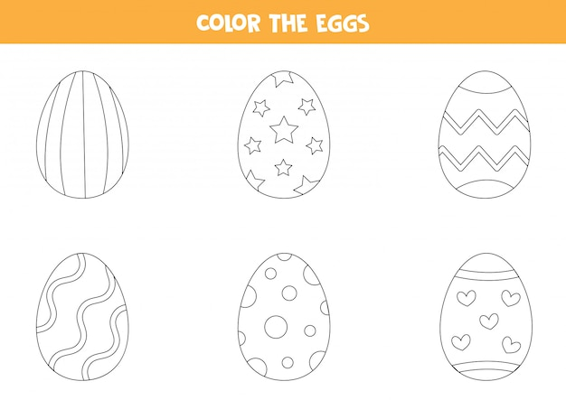 color cartoon easter eggs coloring page kids 122784 305