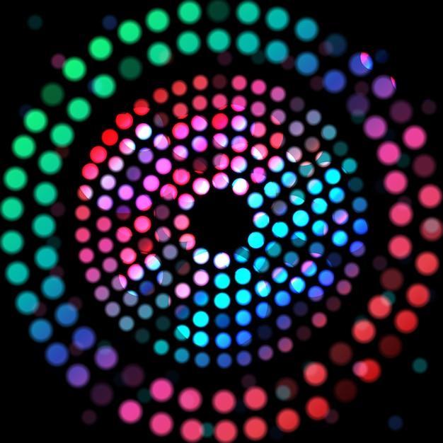 Цветной круг на черном фоне Premium векторы
