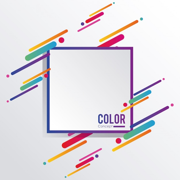 Color concept background frame Premium Vector