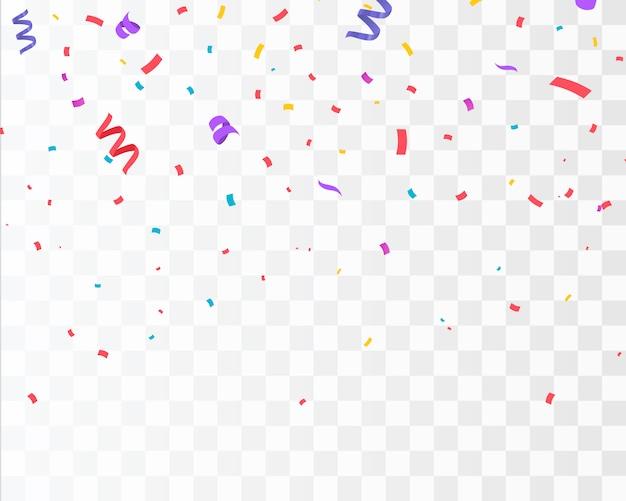 Color confetti isolated. celebrate Premium Vector
