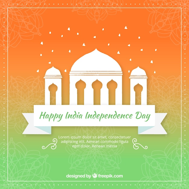 Color gradient background of india\ independence