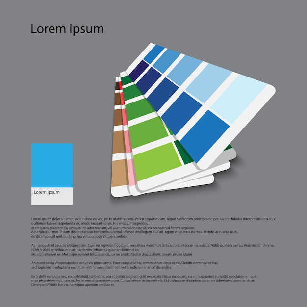 Color guide for graphic for printing Premium Vector