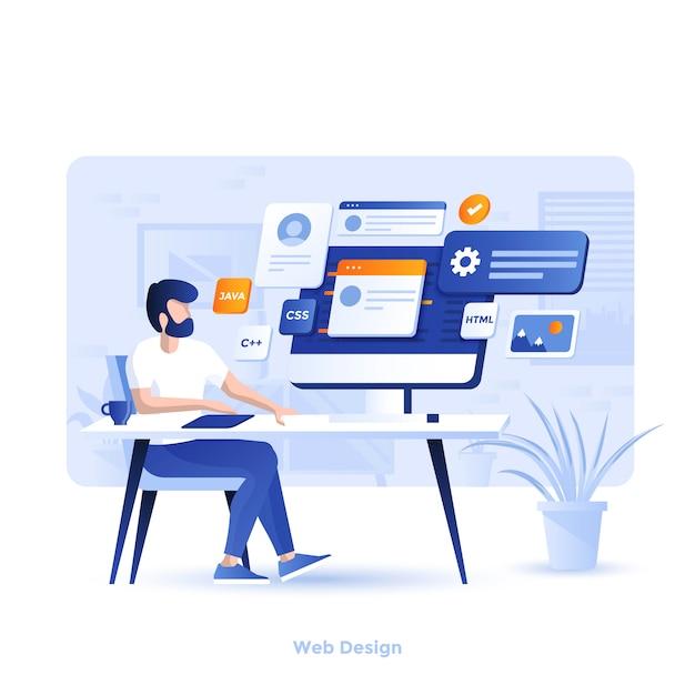 Color modern illustration  - web Premium Vector
