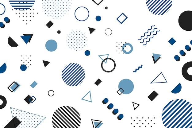 2020年の幾何学的な背景の色 Premiumベクター
