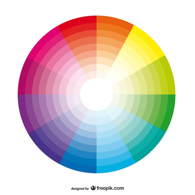 Color palette background Free Vector